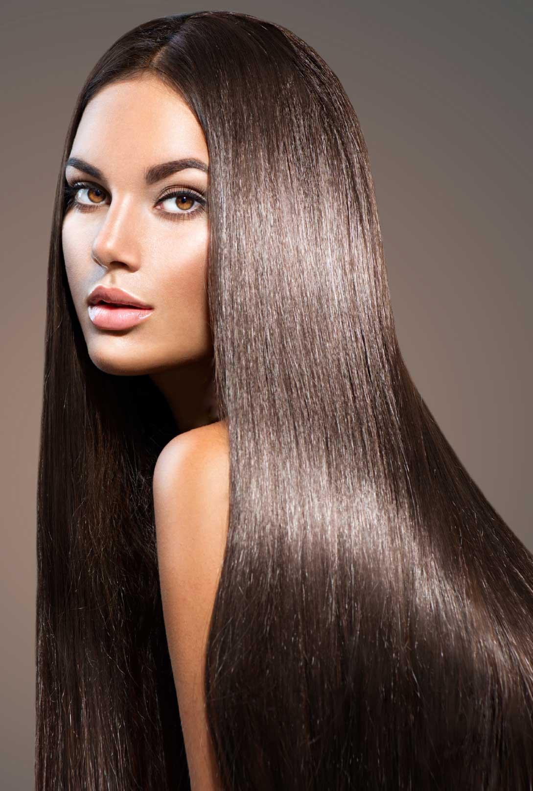 smeđa kosa nakon tretmana kosta hair proizvodima